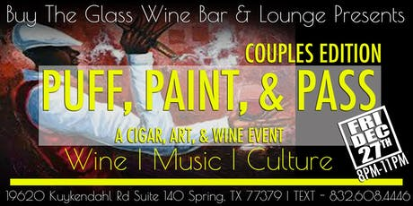Puff, Paint & Pass | A Cigars, Art & Wine Event tickets