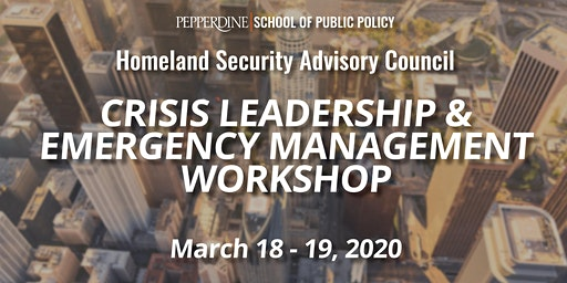 Crisis Leadership and Emergency Management Workshop