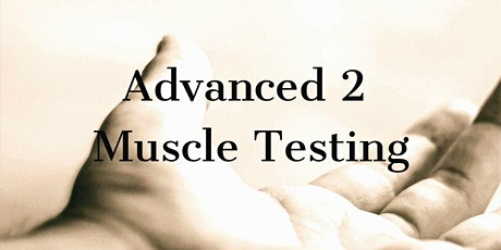 Muscle Testing for the Healthcare Practitioner Advanced 2 tickets