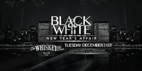 Whiskey Bar - Black & White NYE 2020 tickets