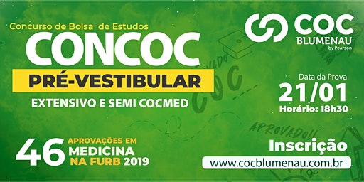 CONCURSO BOLSA DE ESTUDOS   CONCOC PRÉ-VESTIBULAR 2020