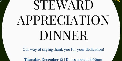 Steward Appreciation Dinner