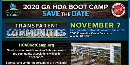2020 Georgia HOA Boot Camp