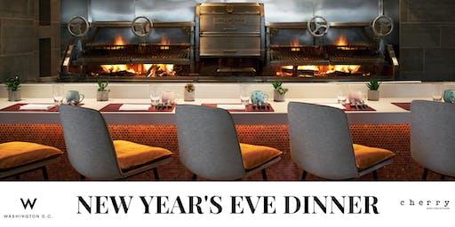 New Year's Eve Dinner at Cherry W Hotel Washington DC