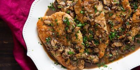 UBS Cooking School: Chicken Marsala tickets