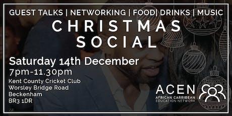 AFRICAN CARIBBEAN EDUCATION NETWORK - CHRISTMAS SOCIAL  tickets