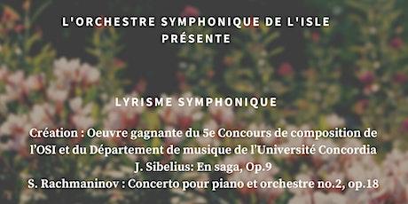 Lyrisme symphonique | Orchestre symphonique de l'Isle tickets