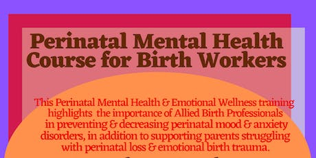 Perinatal Mental Health Course for Birth Workers tickets