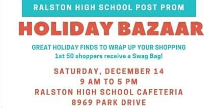 RHS Post Prom Holiday Bazaar