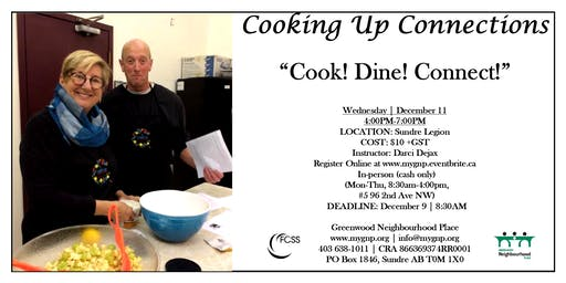 COOKING UP CONNECTIONS - 'Cook! Dine! Connect!'