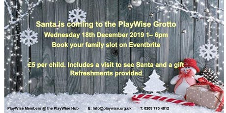 Santa is Coming to the PlayWise Grotto tickets