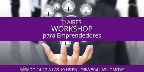 Workshop para Emprendedores entradas