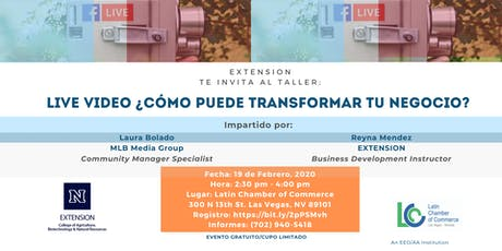 LIVE VIDEO ¿COMO PUEDE TRANSFORMAR TU NEGOCIO? tickets