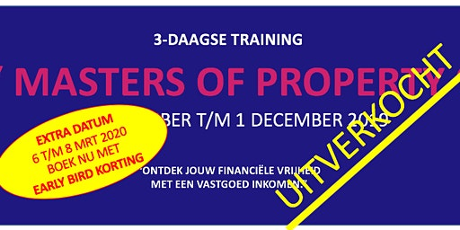 MASTERS OF PROPERTY: 3 daagse vastgoed training