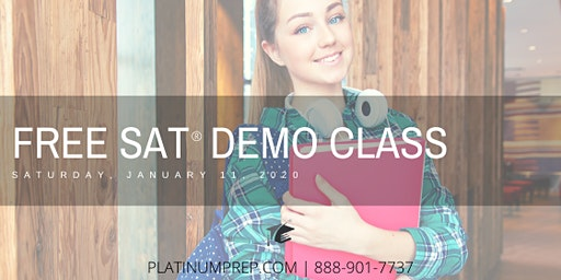 SAT FREE 2-hour Demo Class