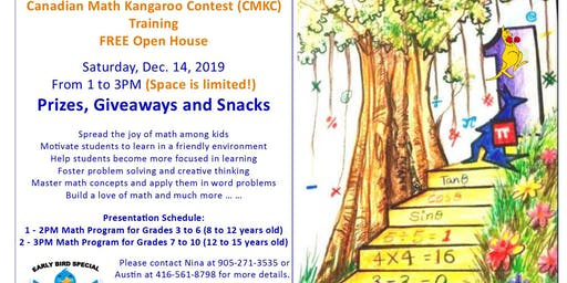 FREE Learning Math Event (for Parents and Students) with Prizes