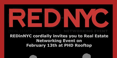 REDInNYC February 13, 2019 Real Estate Networking Event tickets