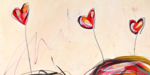 Mixed Emotions: A Whimsical Heart Series Paint Class