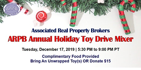 ARPB Annual Holiday Toy Drive Mixer 2019 tickets