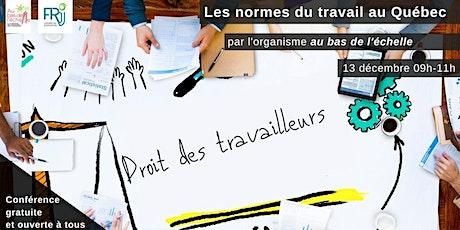 Les normes du travail au Québec billets