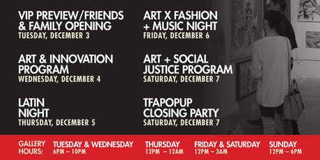 The Fearless Artist 6th Annual Pop Up Gallery Exhibition - TFAPOPUP CLOSING PARTY tickets
