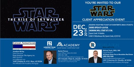 Client Appreciation & Private Showing of Star Wars The Rise of Skywalker tickets