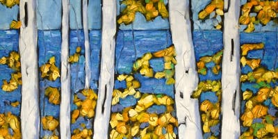 Beginners Birch Tree Paint Class