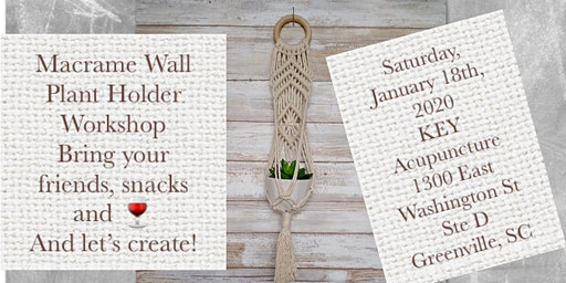 Knotty By Nature Macrame Wall Plant Hanger Workshop