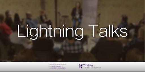 Lightning Talks and Reception