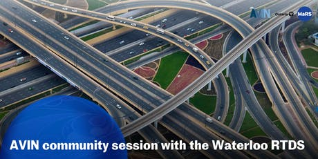 AVIN community session with Waterloo's Regional Technology Development Site tickets