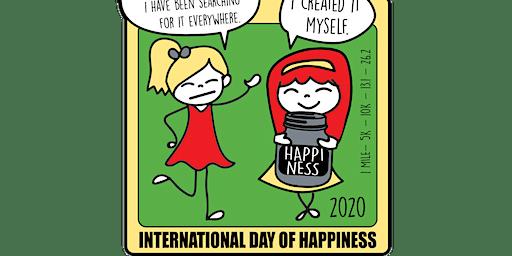 2020 International Day of Happiness 1M 5K 10K 13.1 26.2 –Indianaoplis