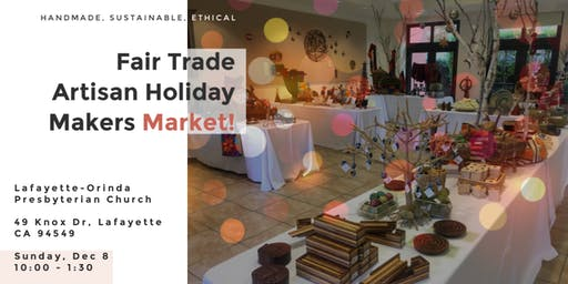 Fair Trade Artisan Holiday Market!