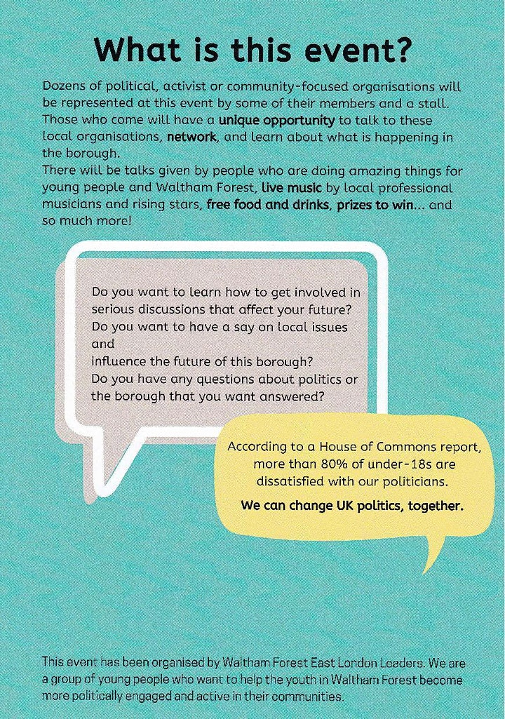 'Your Borough Your Future', an event by Waltham Forest East London Leaders image