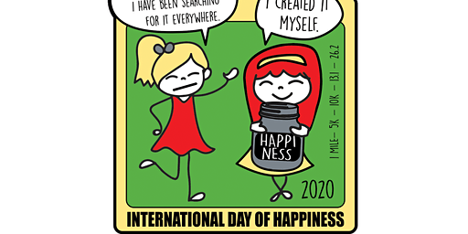 2020 International Day of Happiness 1M 5K 10K 13.1 26.2 –Olympia