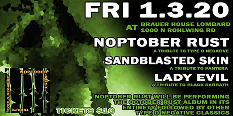 Metal Tributes Noptober Rust, Sandblasted Skin & More at BHouse LIVE tickets