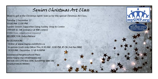 Seniors Christmas Art Class