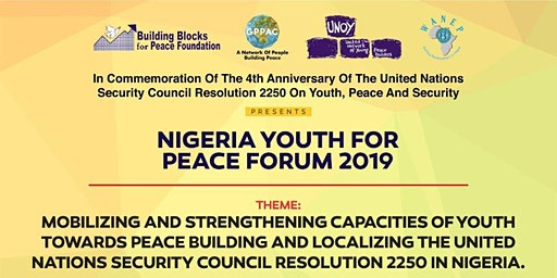 NIGERIA YOUTH FOR PEACE FORUM 2019