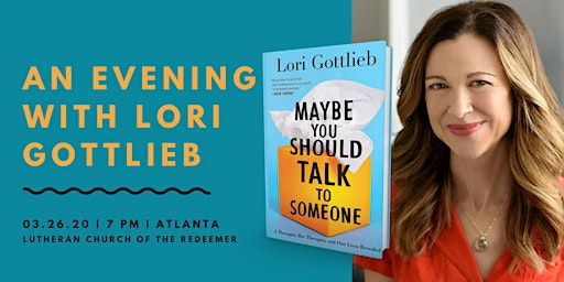 An Evening with NYT Best-Selling Author Lori Gottlieb