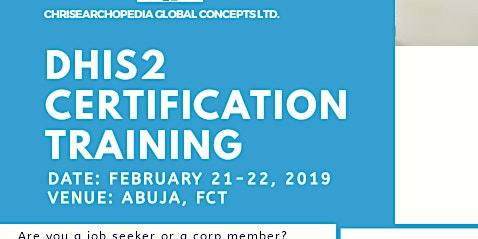 DHIS2 CERTIFICATION TRAINING