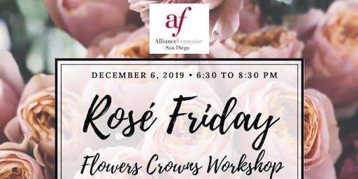 "Flowers Crowns Workshop ""Rosé Friday"""