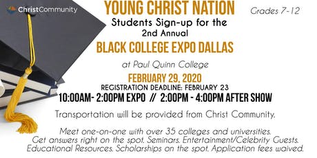 Young Christ Nation College Expo Trip tickets