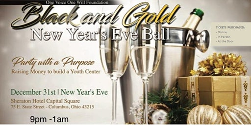 Black and Gold 2020 New Year's Eve Ball