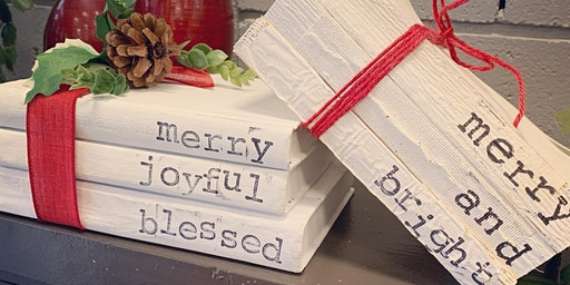 December Adult Craft Night - Recycled Book Stacks