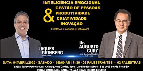 São José do Rio Preto - PALESTRA COM DR. AUGUSTO CURY  e JAQUES GRINBERG ingressos