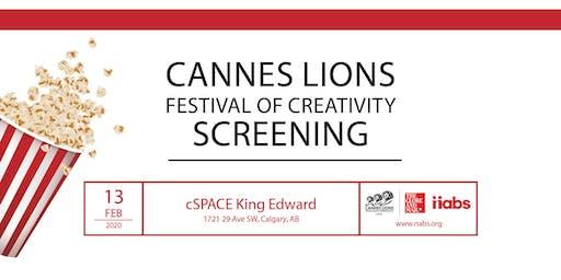 Cannes Lions Calgary Screening 2020