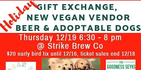 Vegan Holiday Gift Exchange 2019 with Helping Food Truck