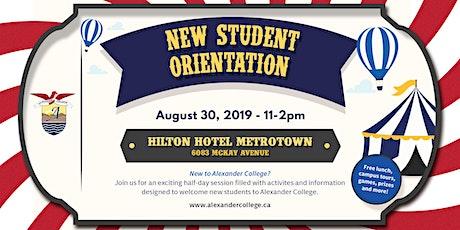Alexander College - New Student Orientation tickets