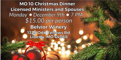 MO10 Licensed Ministers and Spouses Christmas Dinner
