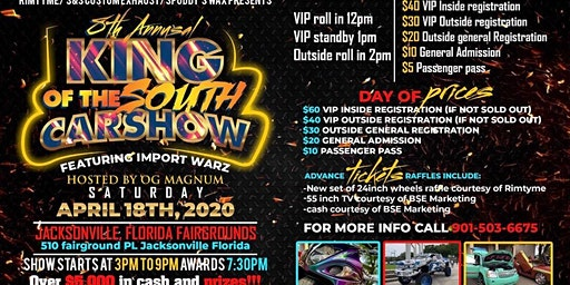 8TH ANNUAL KING OF THE SOUTH FT IMPORT WARZ