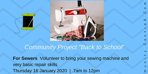 Community Project  Calling Volunteer Sewers | Back to School Basic Repairs